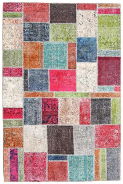 パッチワーク - Persien/Iran 絨毯 198X300 モダン 手織り 錆色/濃いグレー (ウール, ペルシャ/イラン)