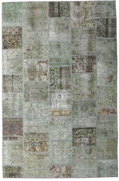パッチワーク - Persien/Iran 絨毯 200X305 モダン 手織り 薄い灰色/濃いグレー (ウール, ペルシャ/イラン)
