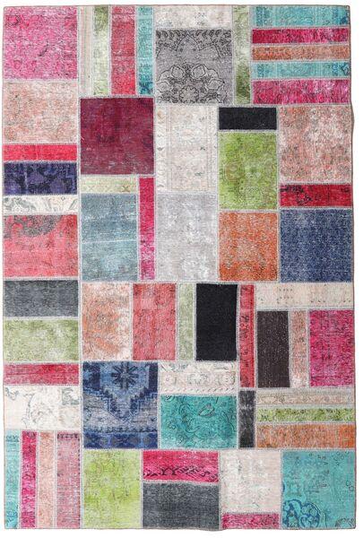 パッチワーク - Persien/Iran 絨毯 200X299 モダン 手織り 薄い灰色/濃いグレー (ウール, ペルシャ/イラン)