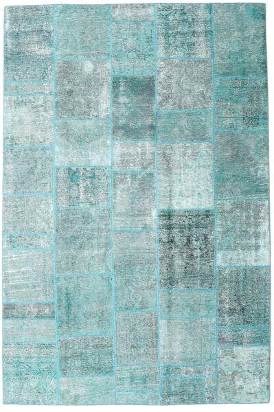 パッチワーク - Persien/Iran 絨毯 205X303 モダン 手織り 水色/パステルグリーン/ターコイズブルー (ウール, ペルシャ/イラン)