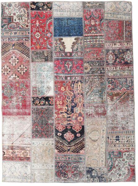 パッチワーク - Persien/Iran 絨毯 172X236 モダン 手織り 薄紫色/薄い灰色 (ウール, ペルシャ/イラン)
