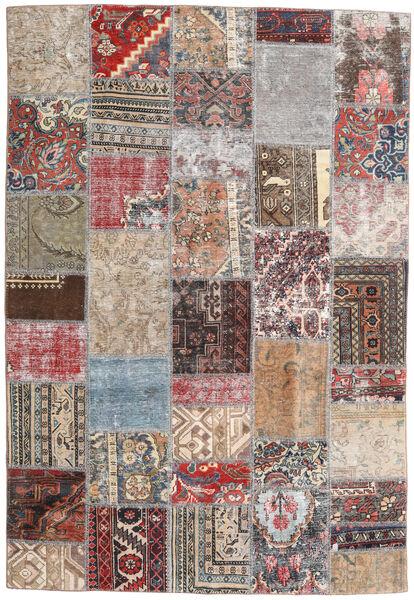 パッチワーク - Persien/Iran 絨毯 163X239 モダン 手織り 薄い灰色/薄茶色 (ウール, ペルシャ/イラン)