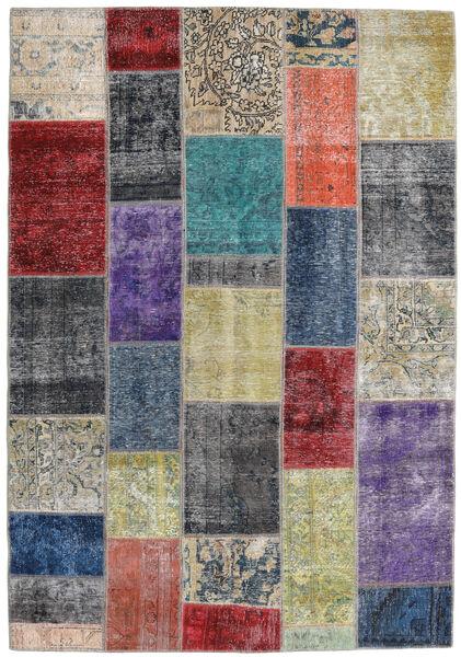 パッチワーク - Persien/Iran 絨毯 168X241 モダン 手織り 濃いグレー/薄い灰色 (ウール, ペルシャ/イラン)