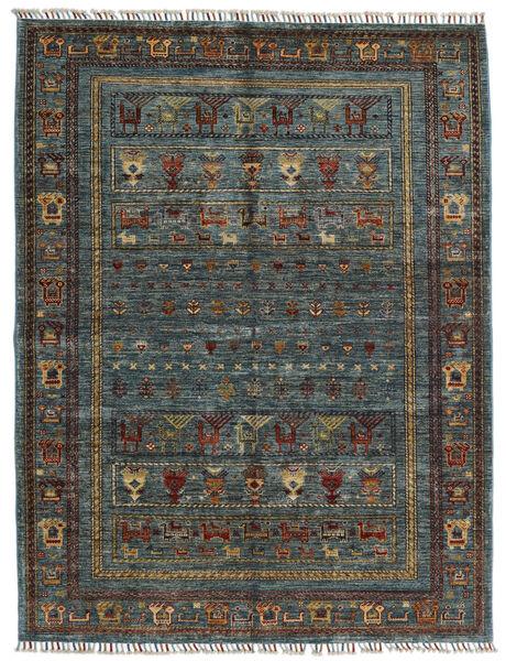Shabargan 絨毯 154X202 モダン 手織り 濃いグレー/黒 (ウール, アフガニスタン)