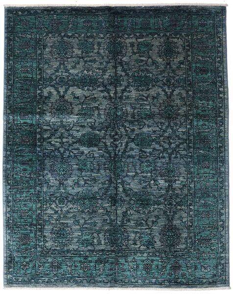 Mirage 絨毯 154X197 モダン 手織り 紺色の/青 (ウール, アフガニスタン)