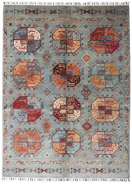 Shabargan 絨毯 153X204 モダン 手織り 薄い灰色/深紅色の (ウール, アフガニスタン)