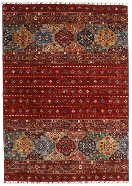 Shabargan 絨毯 173X244 モダン 手織り 深紅色の/赤 (ウール, アフガニスタン)