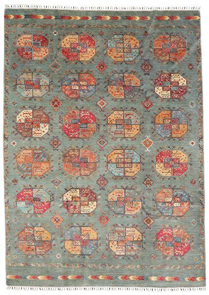 Shabargan 絨毯 209X288 モダン 手織り 薄い灰色/濃いグレー (ウール, アフガニスタン)
