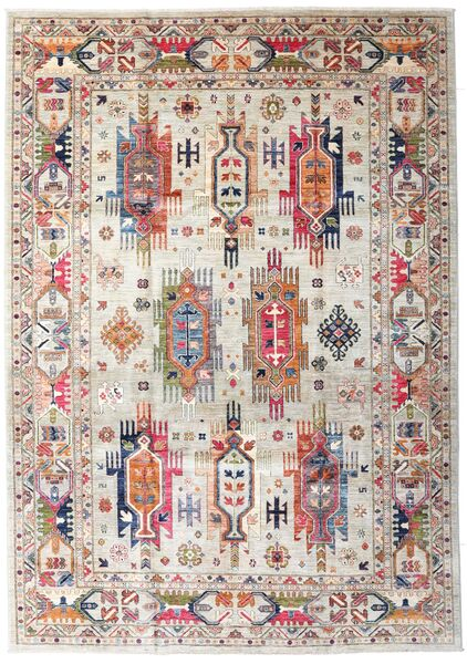 Mirage 絨毯 208X301 モダン 手織り 薄い灰色/ホワイト/クリーム色 (ウール, アフガニスタン)