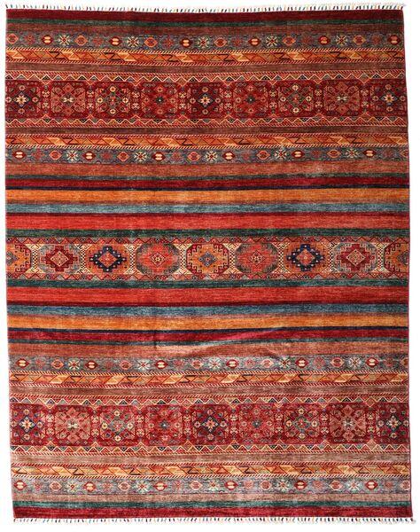 Sharbargan 絨毯 242X301 モダン 手織り 深紅色の/濃いグレー (ウール, アフガニスタン)