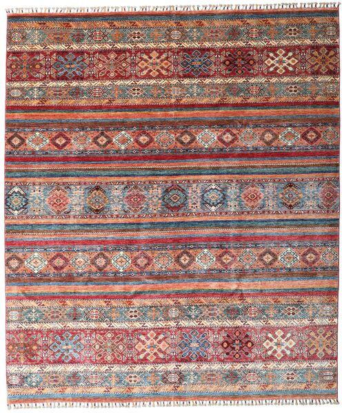 Shabargan 絨毯 243X284 モダン 手織り 深紅色の/茶 (ウール, アフガニスタン)