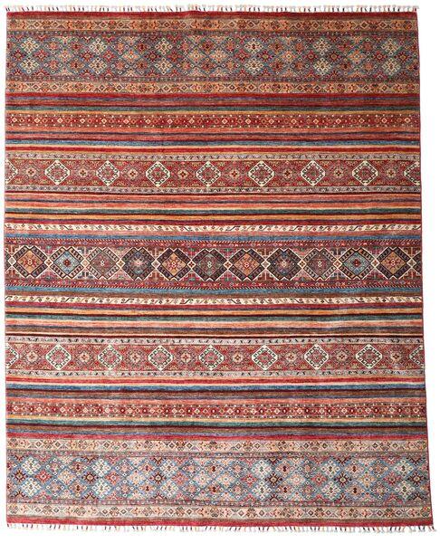 Shabargan 絨毯 242X300 モダン 手織り 深紅色の/ベージュ (ウール, アフガニスタン)