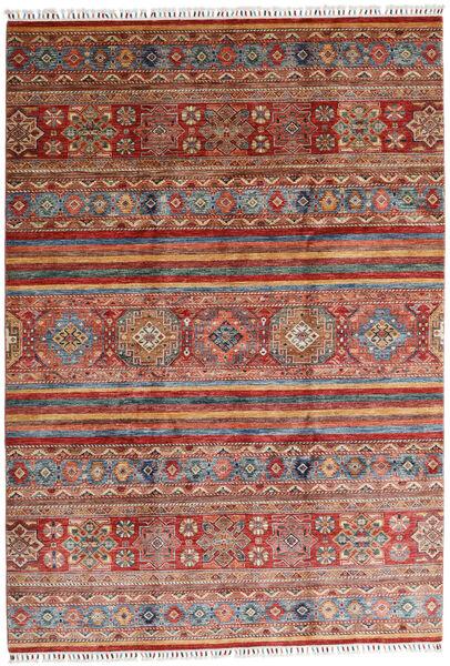 Shabargan 絨毯 208X298 モダン 手織り 深紅色の/濃い茶色 (ウール, アフガニスタン)