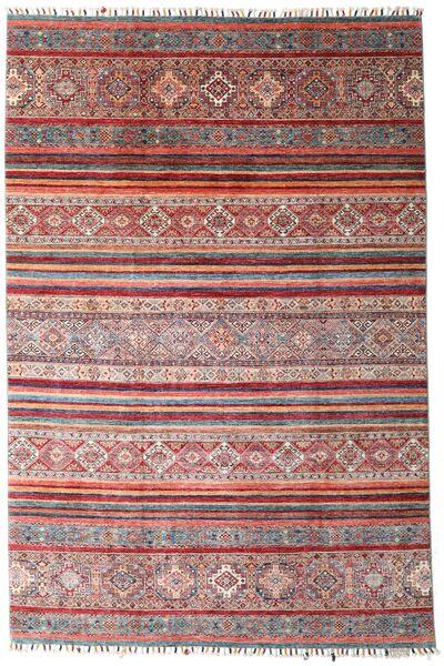 Shabargan 絨毯 199X298 モダン 手織り 深紅色の/薄紫色 (ウール, アフガニスタン)