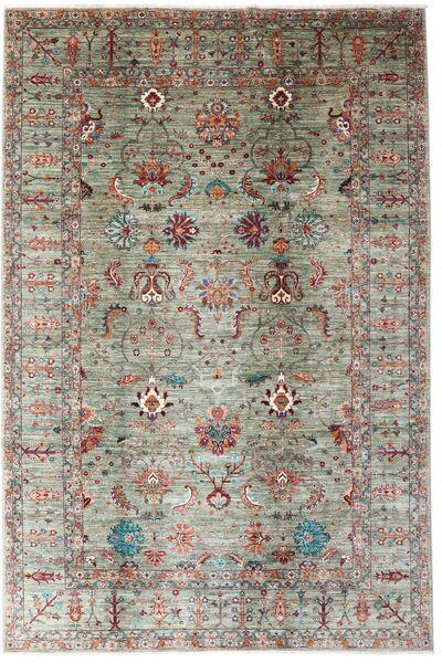 Mirage 絨毯 209X314 モダン 手織り 薄い灰色/濃い茶色 (ウール, アフガニスタン)