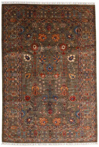 Shabargan 絨毯 200X297 モダン 手織り 濃い茶色/茶 (ウール, アフガニスタン)