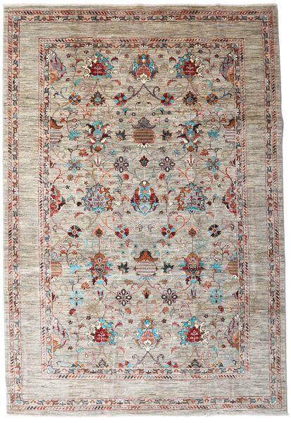 Mirage 絨毯 209X310 モダン 手織り 薄い灰色/薄茶色 (ウール, アフガニスタン)
