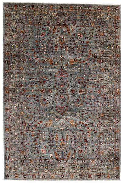 Mirage 絨毯 209X317 モダン 手織り 濃いグレー/深紅色の (ウール, アフガニスタン)
