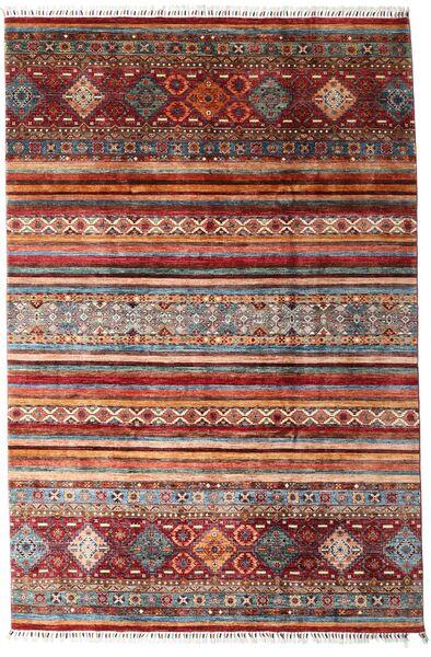 Sharbargan 絨毯 208X312 モダン 手織り 深紅色の/濃い茶色 (ウール, アフガニスタン)