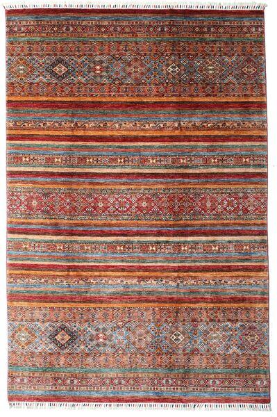 Shabargan 絨毯 204X307 モダン 手織り 深紅色の/濃い茶色 (ウール, アフガニスタン)