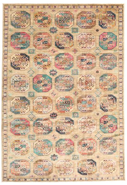 Mirage 絨毯 197X286 モダン 手織り ベージュ/濃い茶色 (ウール, アフガニスタン)