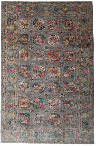 Mirage 絨毯 196X301 モダン 手織り 濃いグレー/薄い灰色 (ウール, アフガニスタン)
