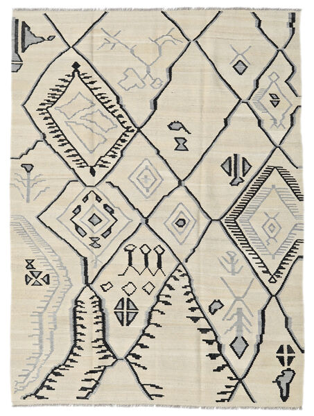 キリム モダン 絨毯 174X230 モダン 手織り 暗めのベージュ色の/薄い灰色 (ウール, アフガニスタン)