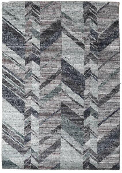 Damask Collection 絨毯 161X230 モダン 手織り 濃いグレー/薄い灰色 ( インド)