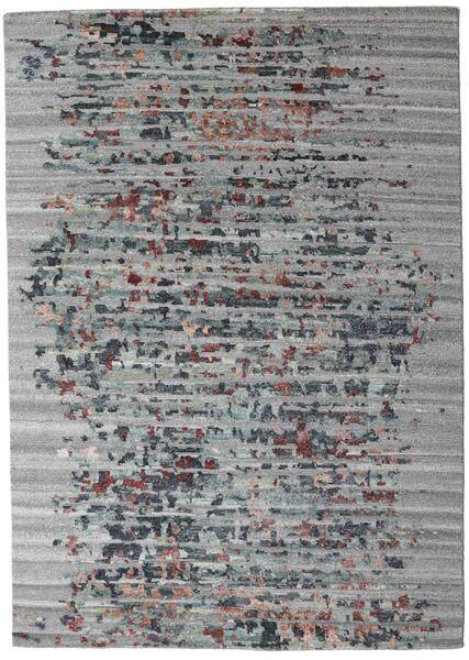 Damask Collection 絨毯 164X231 モダン 手織り 薄い灰色/濃いグレー ( インド)
