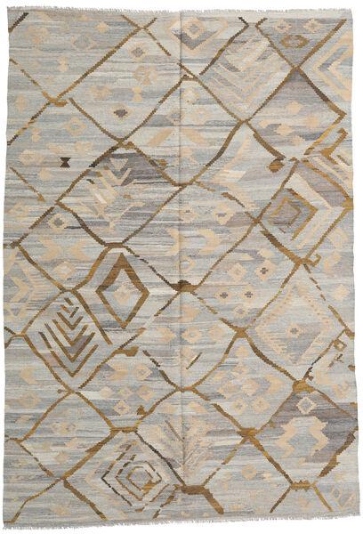 キリム Ariana 絨毯 203X300 モダン 手織り 薄い灰色 (ウール, アフガニスタン)
