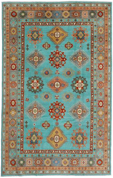 カザック 絨毯 198X313 オリエンタル 手織り ターコイズブルー/ライトグリーン (ウール, アフガニスタン)