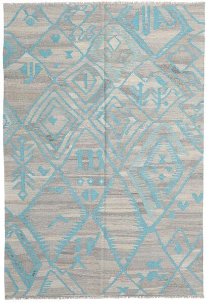 キリム モダン 絨毯 200X294 モダン 手織り 薄い灰色 (ウール, アフガニスタン)