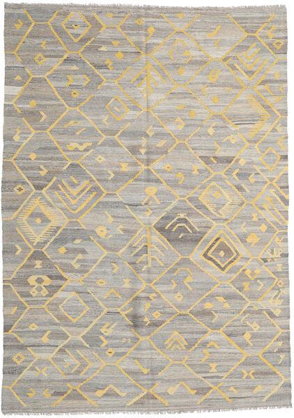 キリム Ariana 絨毯 209X290 モダン 手織り 薄い灰色/暗めのベージュ色の (ウール, アフガニスタン)