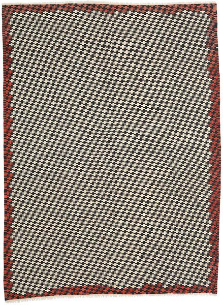 キリム モダン 絨毯 213X287 モダン 手織り ベージュ/黒 (ウール, アフガニスタン)