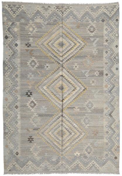 キリム モダン 絨毯 207X293 モダン 手織り 薄い灰色 (ウール, アフガニスタン)