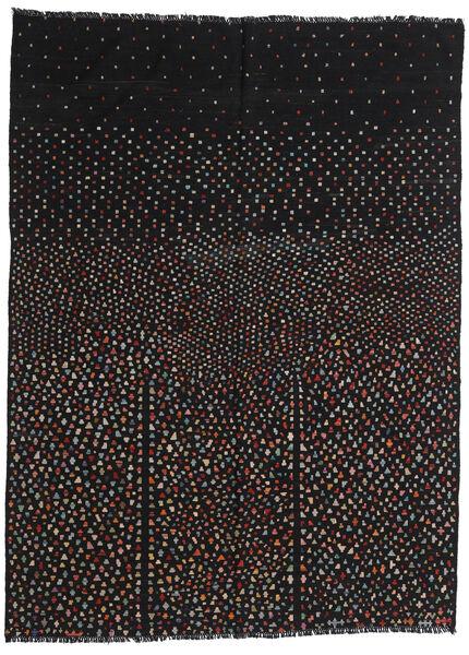 キリム モダン 絨毯 210X282 モダン 手織り 黒 (ウール, アフガニスタン)