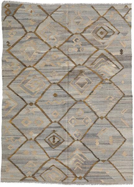 キリム Ariana 絨毯 212X285 モダン 手織り 薄い灰色/薄茶色 (ウール, アフガニスタン)