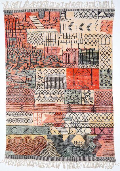 Berber Moroccan - Mid Atlas 絨毯 248X350 モダン 手織り ベージュ/薄い灰色 (ウール, モロッコ)