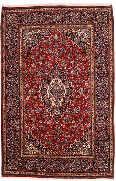 カシャン 絨毯 198X302 オリエンタル 手織り 深紅色の (ウール, ペルシャ/イラン)