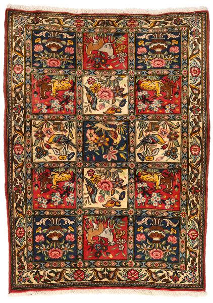 バクティアリ Collectible 絨毯 107X145 オリエンタル 手織り 黒/赤 (ウール, ペルシャ/イラン)