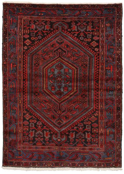 ザンジャン 絨毯 150X207 オリエンタル 手織り 深紅色の/濃い茶色 (ウール, ペルシャ/イラン)