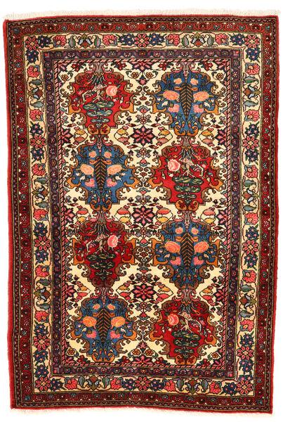 バクティアリ Collectible 絨毯 108X157 オリエンタル 手織り 濃い茶色/深紅色の (ウール, ペルシャ/イラン)