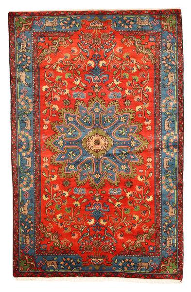 ナハバンド オールド 絨毯 158X246 オリエンタル 手織り 深紅色の/薄い灰色 (ウール, ペルシャ/イラン)