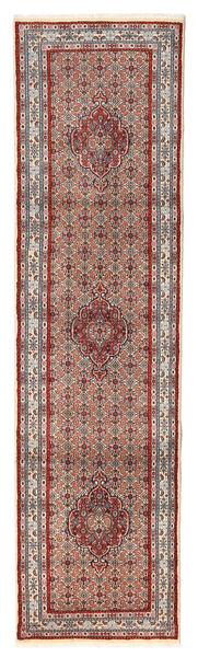 ムード 絨毯 76X292 オリエンタル 手織り 廊下 カーペット 深紅色の/ベージュ (ウール/絹, ペルシャ/イラン)
