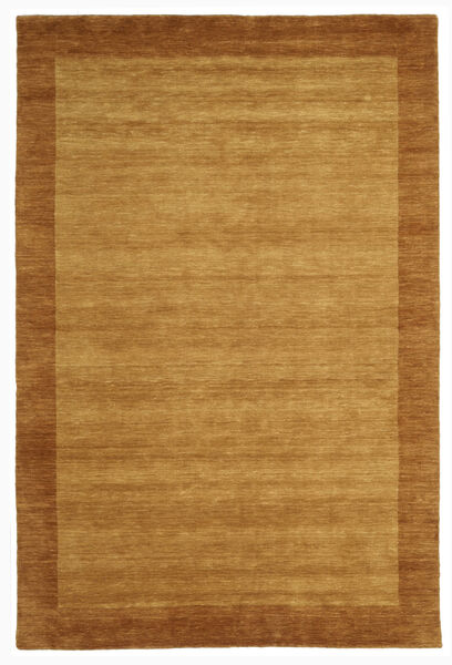 ハンドルーム Frame - ゴールド 絨毯 200X300 モダン 茶/ベージュ (ウール, インド)