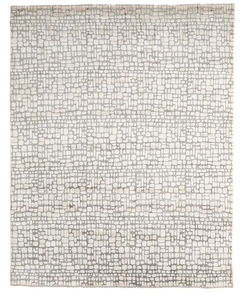 Damask インド 絨毯 242X303 モダン 手織り 薄い灰色/ベージュ (ウール/バンブーシルク, インド)