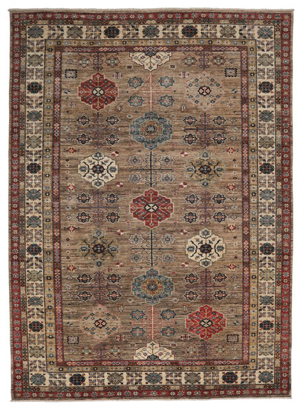 カザック Ariana 絨毯 250X343 モダン 手織り 濃い茶色/黒 大きな (ウール, アフガニスタン)
