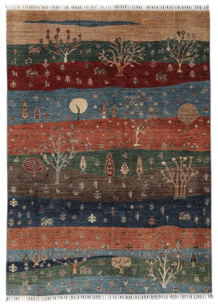 Shabargan 絨毯 174X241 モダン 手織り 黒/濃い茶色 (ウール, アフガニスタン)