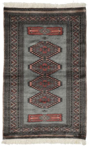 パキスタン ブハラ 3Ply 絨毯 97X152 オリエンタル 手織り 黒/濃いグレー (ウール, パキスタン)