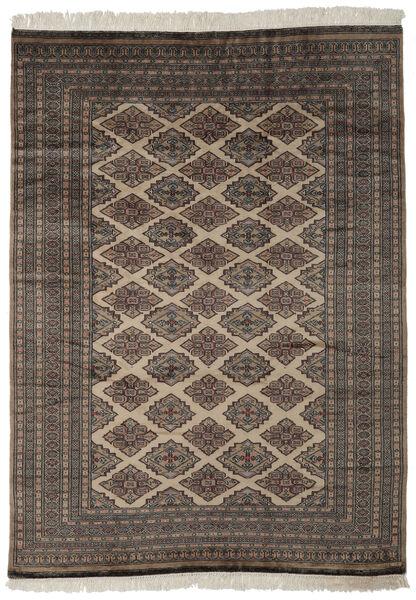 パキスタン ブハラ 2Ply 絨毯 184X257 オリエンタル 手織り 黒/濃い茶色 (ウール, パキスタン)